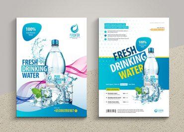 Mẫu tờ rơi quảng cáo nước khoáng đẹp - inanaz