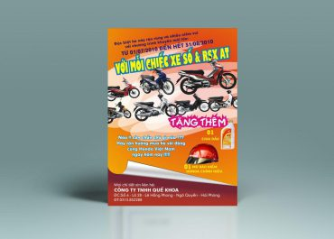 Mẫu tờ rơi quảng cáo xe máy tại in ấn AZ
