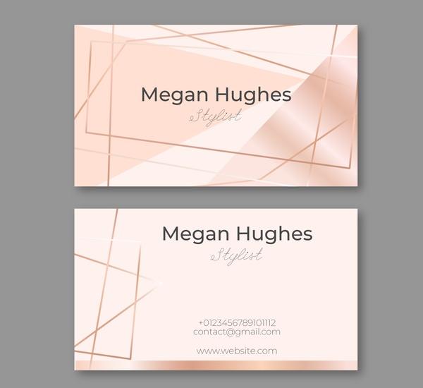 Mẫu name card đẹp với phong cách tối giản